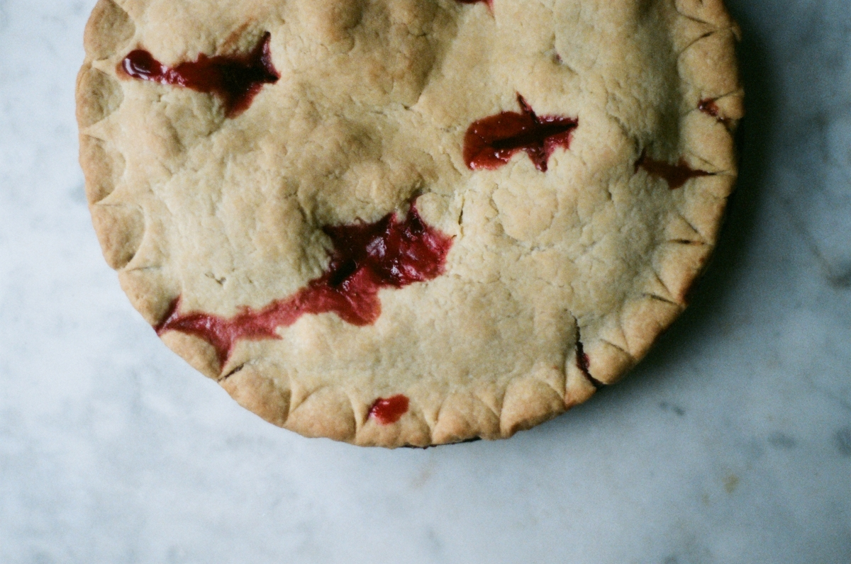 strawberry rhubarb pie | Nikki Gardner